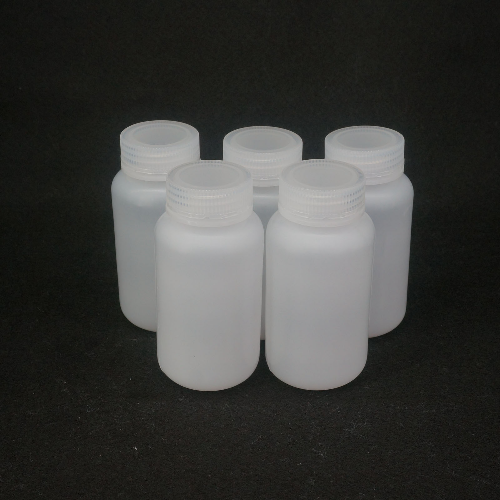Lot5 5ml 500ml white pp plastic cylindrical chemical for Decor 500ml container