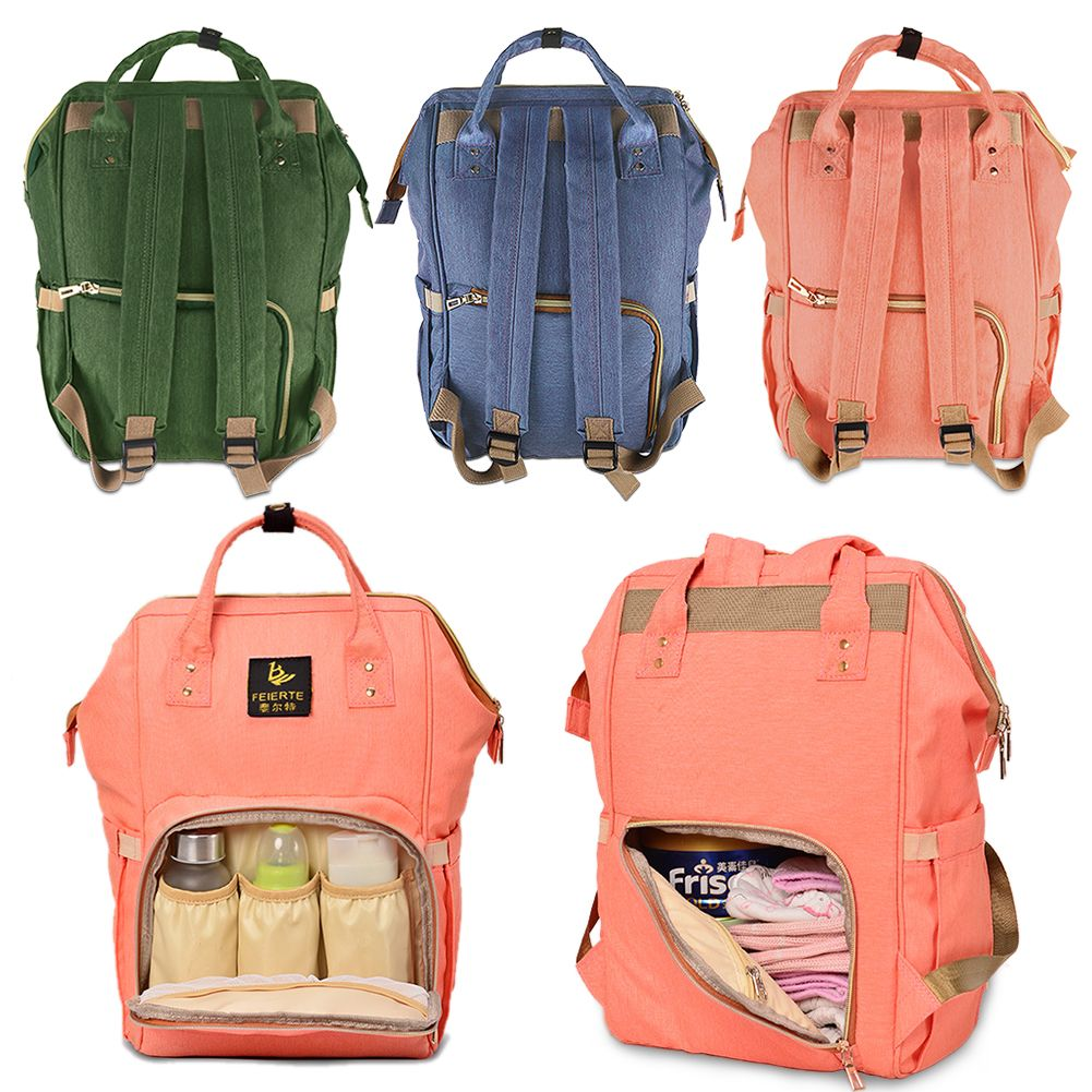 luxury multifunctional baby diaper nappy backpack waterproof large changing bag ebay. Black Bedroom Furniture Sets. Home Design Ideas