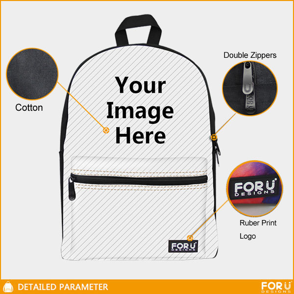 4adee3e5b9d9 Funny Pug Bag Canvas Backpack Boys Girls School Bag Rucksack Daypack  Knapsack 714602128313