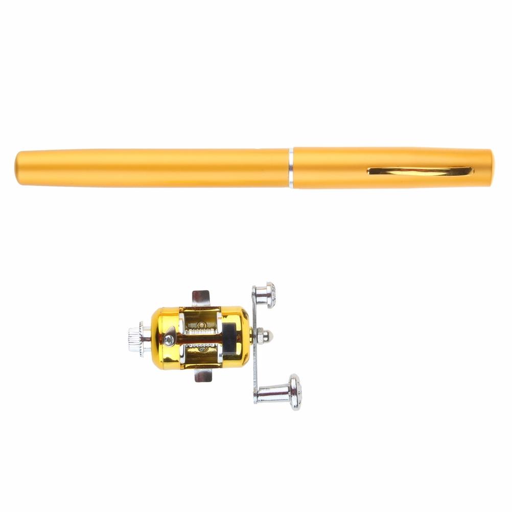 Newest telescopic pen shape fishing rod reel spinning fly for Pen fishing rod amazon