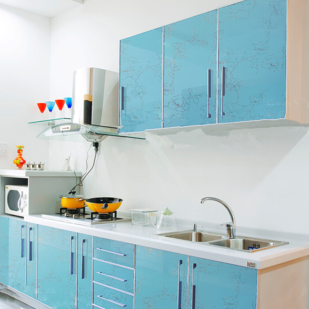 Removable PVC Contact Paper Kitchen Units Cupboard Door Cover ...