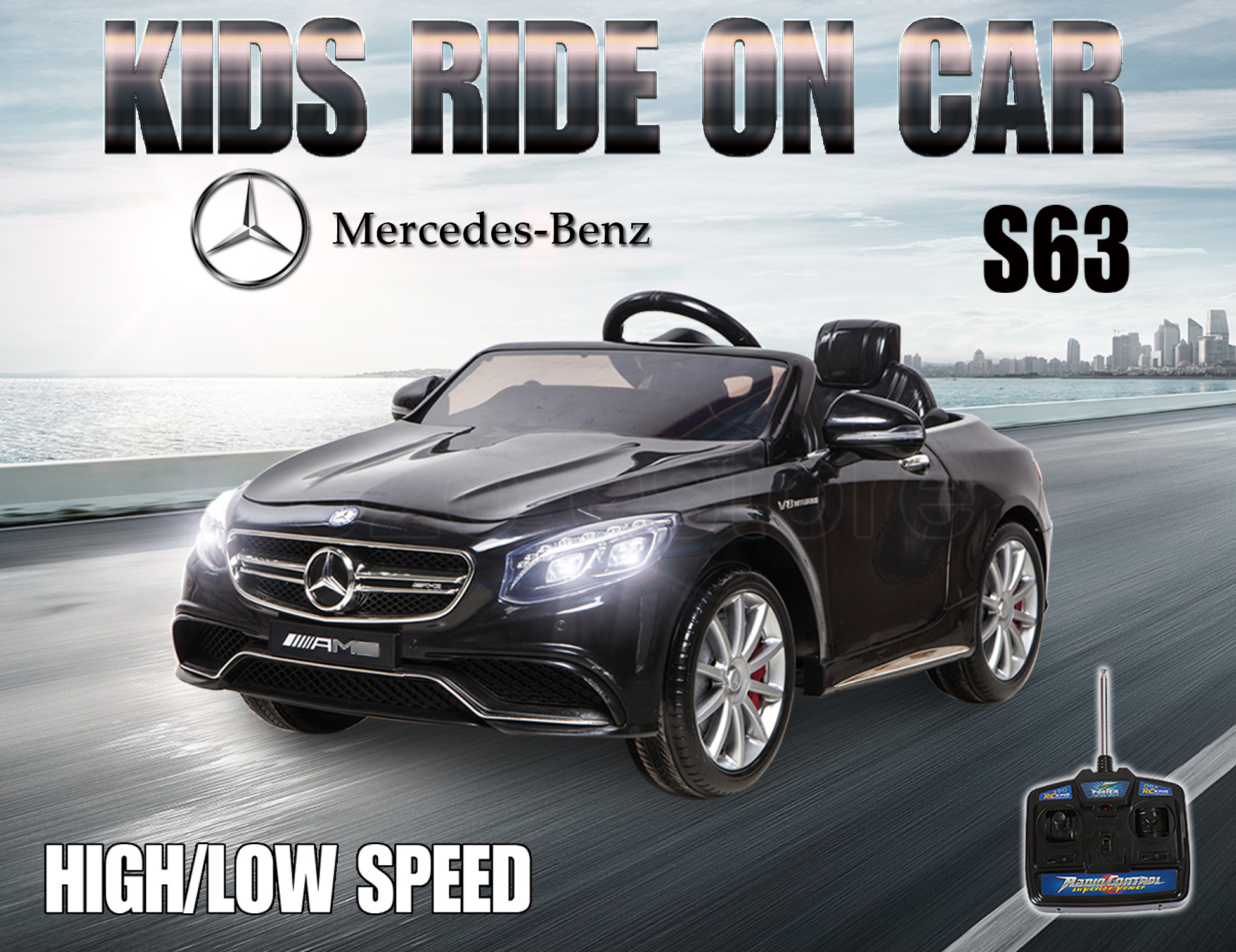Kid electric licensed mercedes benz amg s63 child ride on for Mercedes benz kid car