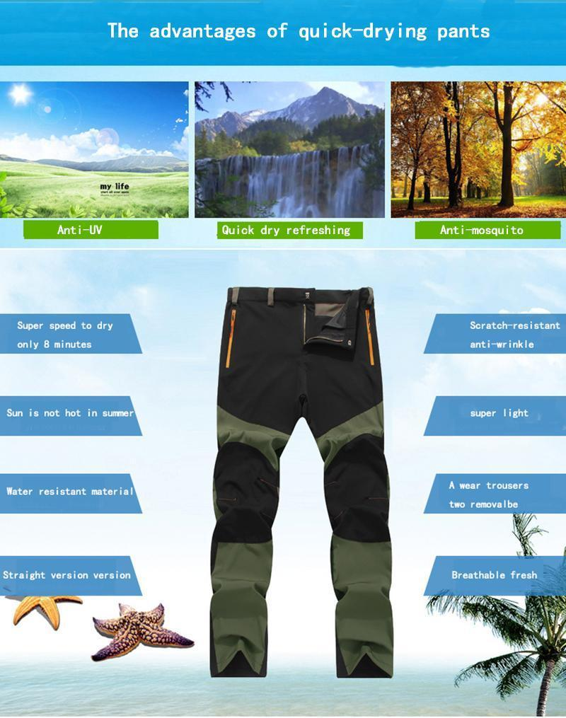 Casual Thin Mens Outdoor Sports Snowboard Pants Waterproof Hiking Trousers Hot C