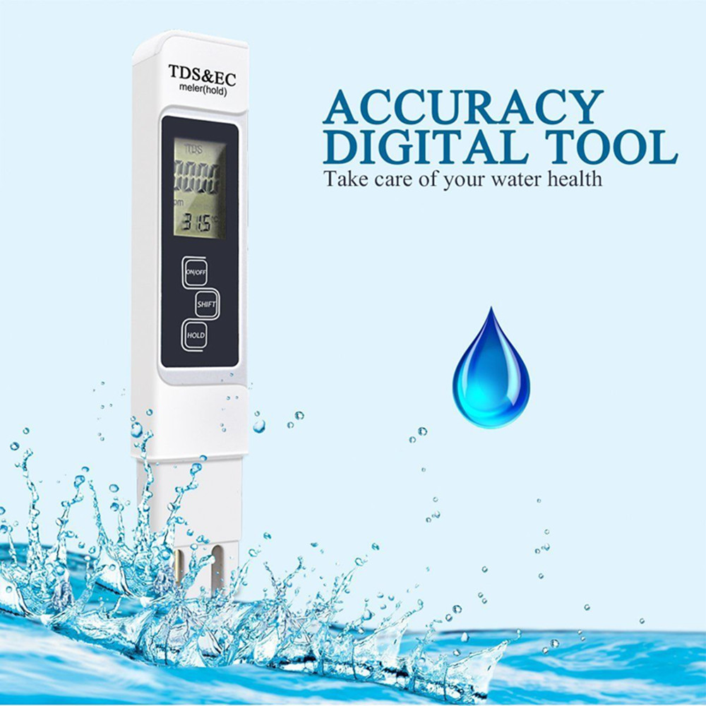 3 in 1 tds ec ppm water quality meter tester