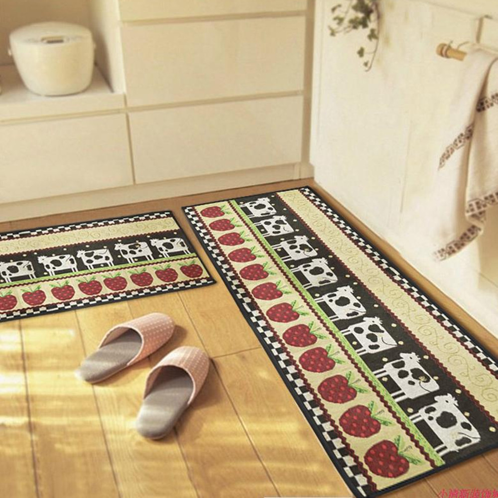 Kitchen Area Non Slip Rug Bedroom Floor Mat Hallway Door