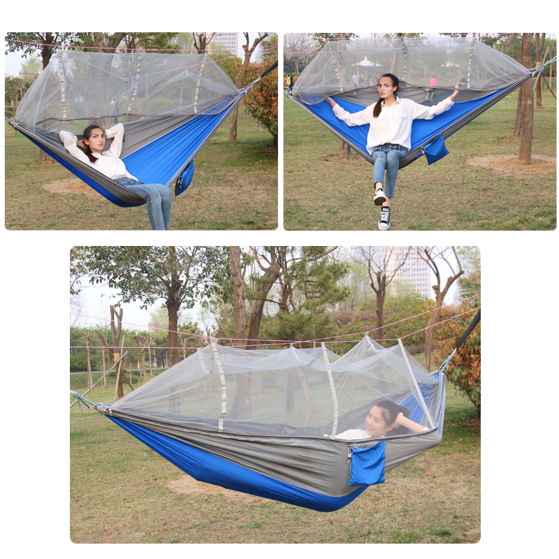 mehrpersonen h ngematten moskitonetz hammock mit net. Black Bedroom Furniture Sets. Home Design Ideas