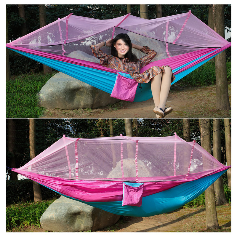 mehrpersonen h ngematten moskitonetz hammock mit net outdoor camping h ngeliege ebay. Black Bedroom Furniture Sets. Home Design Ideas
