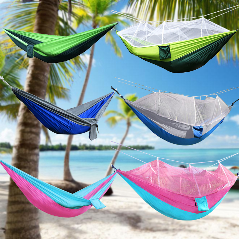 h ngematte moskitonetz mehrpersonen stabh ngematte hammock mit net outdoor 300kg ebay. Black Bedroom Furniture Sets. Home Design Ideas