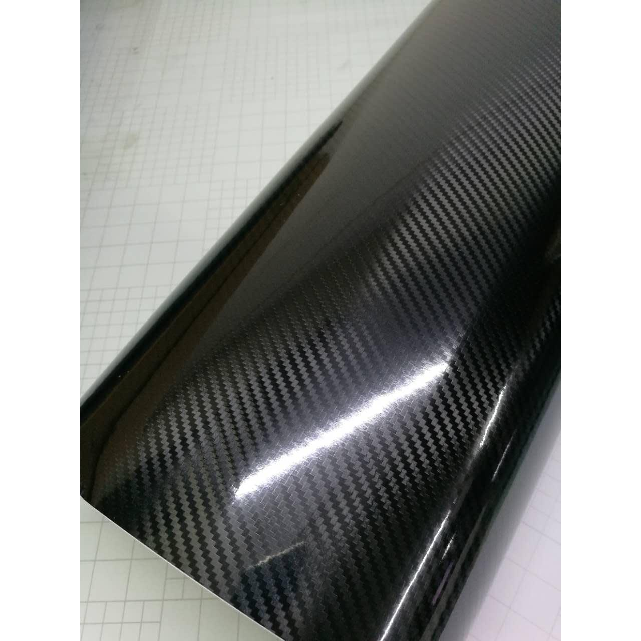 6d Black Shiny Gloss Glossy Carbon Fiber Film Wrap Vinyl