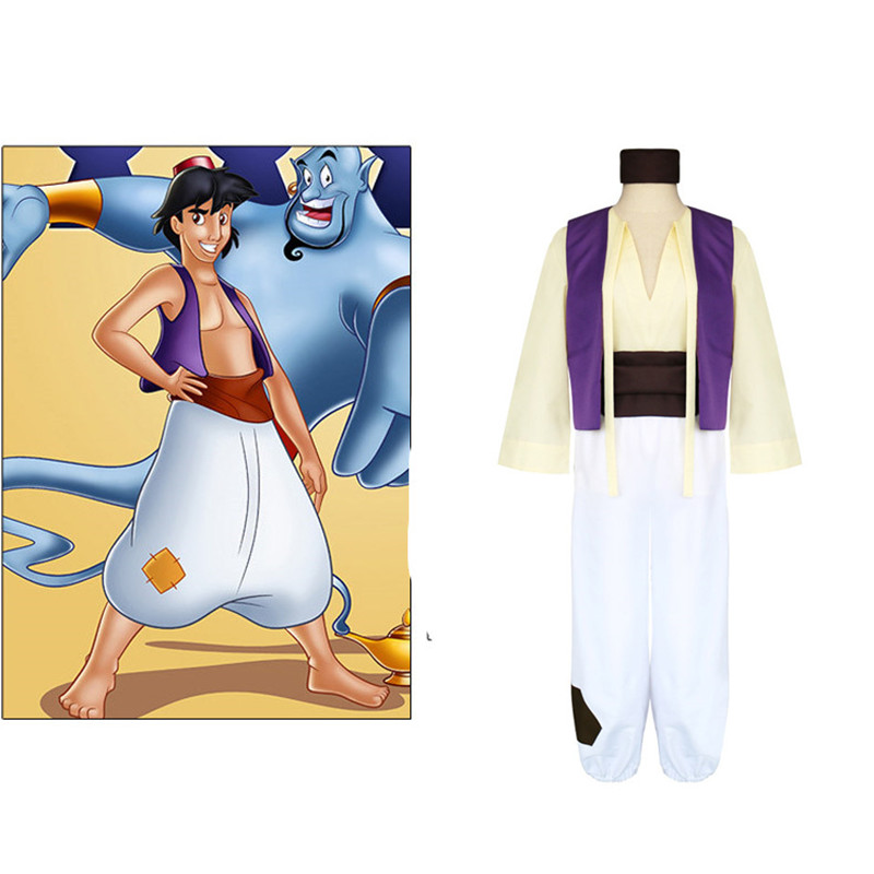Disney Animation Aladdin S Lamp Prince Aladdin Costume Men Full Set