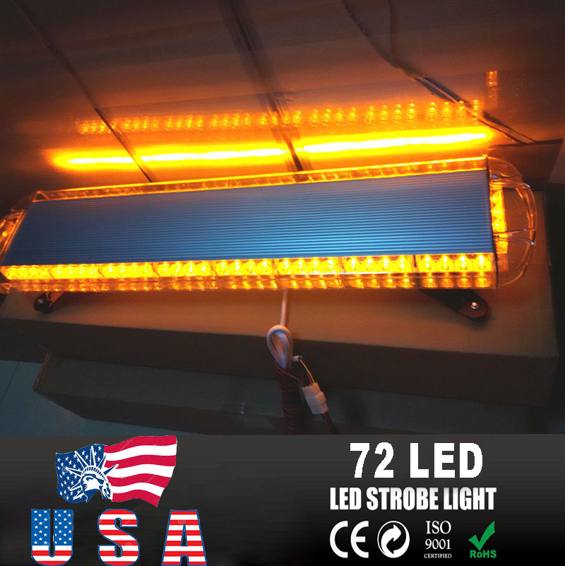 72 led 38 light bar emergency beacon warn tow truck plow. Black Bedroom Furniture Sets. Home Design Ideas