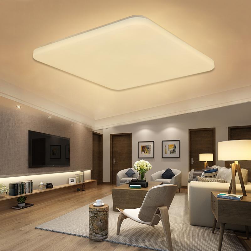 36w warmwei led deckenleuchte wandlampe wohnzimmer leuchte ultraslim quadrat de ebay. Black Bedroom Furniture Sets. Home Design Ideas