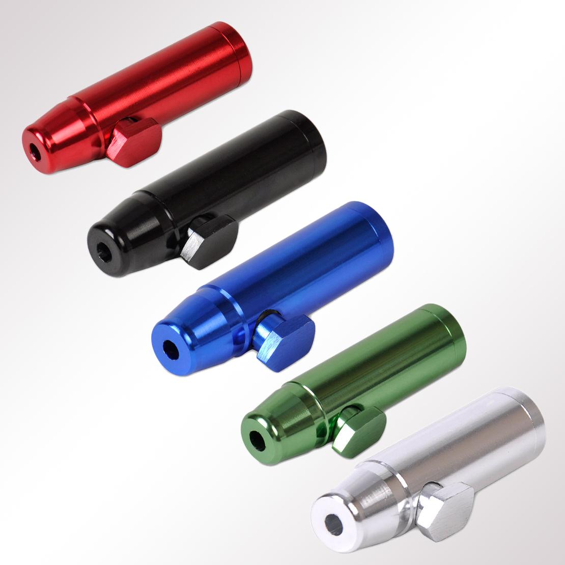 Kau- & Schnupftabak-Zubehör für Sammler Neu Grün Raketen-Stil Alu Schnupftabak Dosierer Snuff  Groß Spender Dispenser