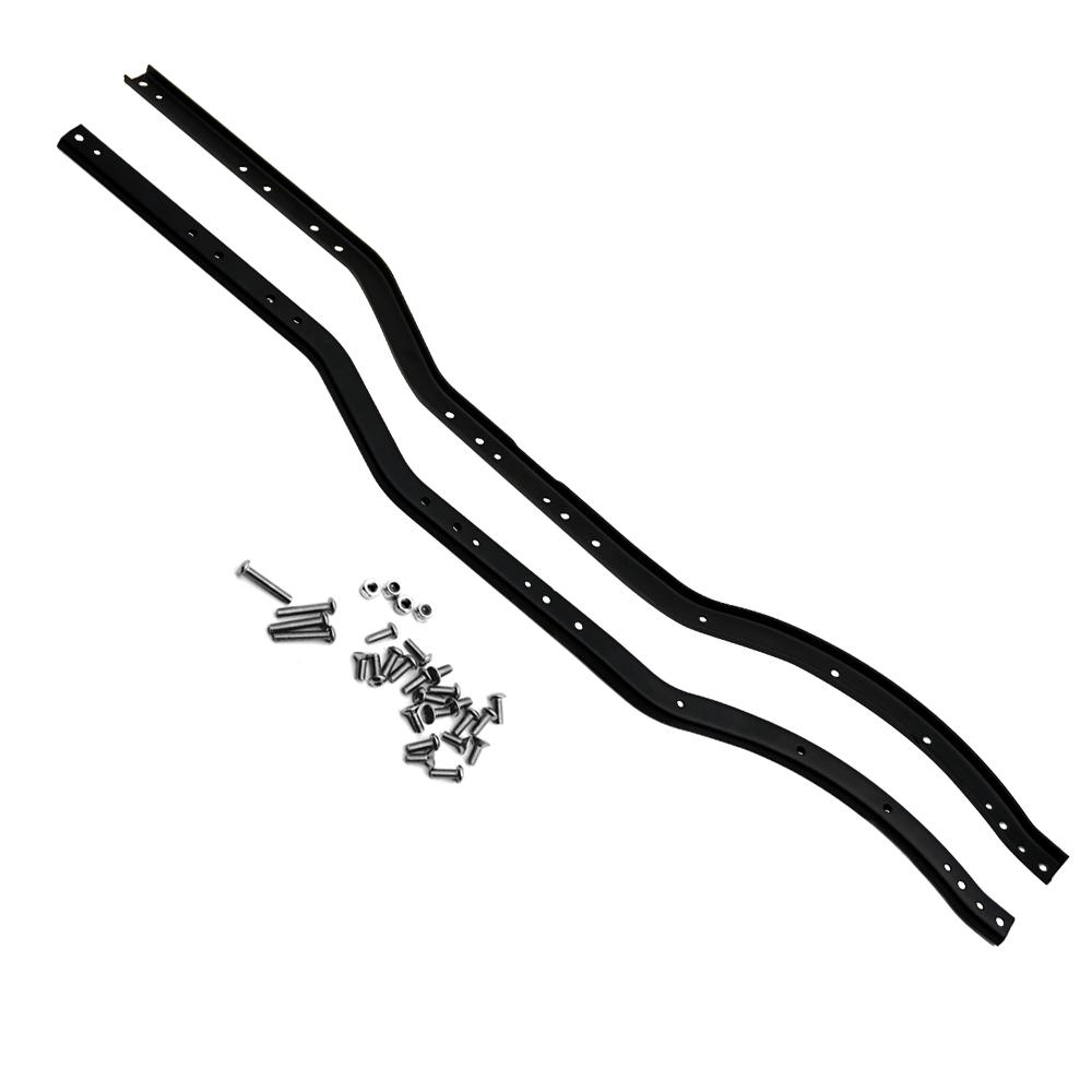 1pair edelstahl chassis rahmenschienen frame rails fr axial scx10 rc crawler car ebay. Black Bedroom Furniture Sets. Home Design Ideas