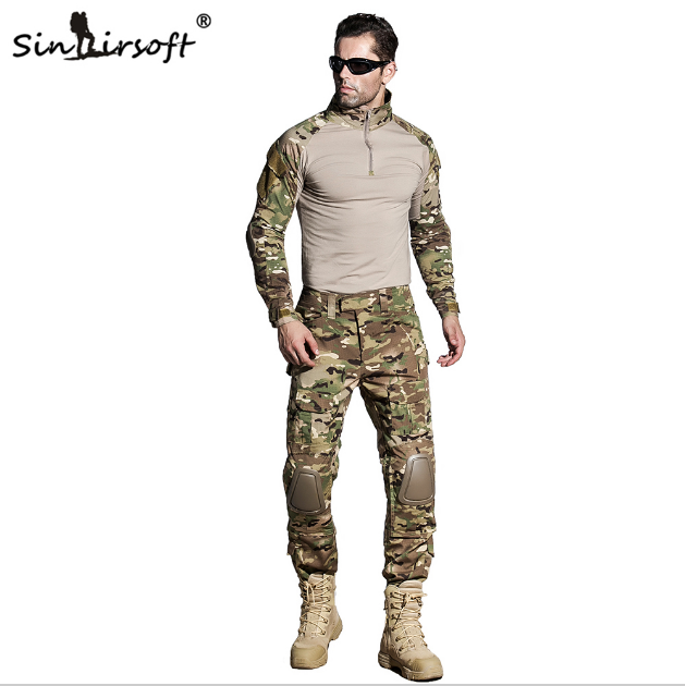 Tactical military combat uniform shirt pants g3 airsoft for Combat portent 31 19