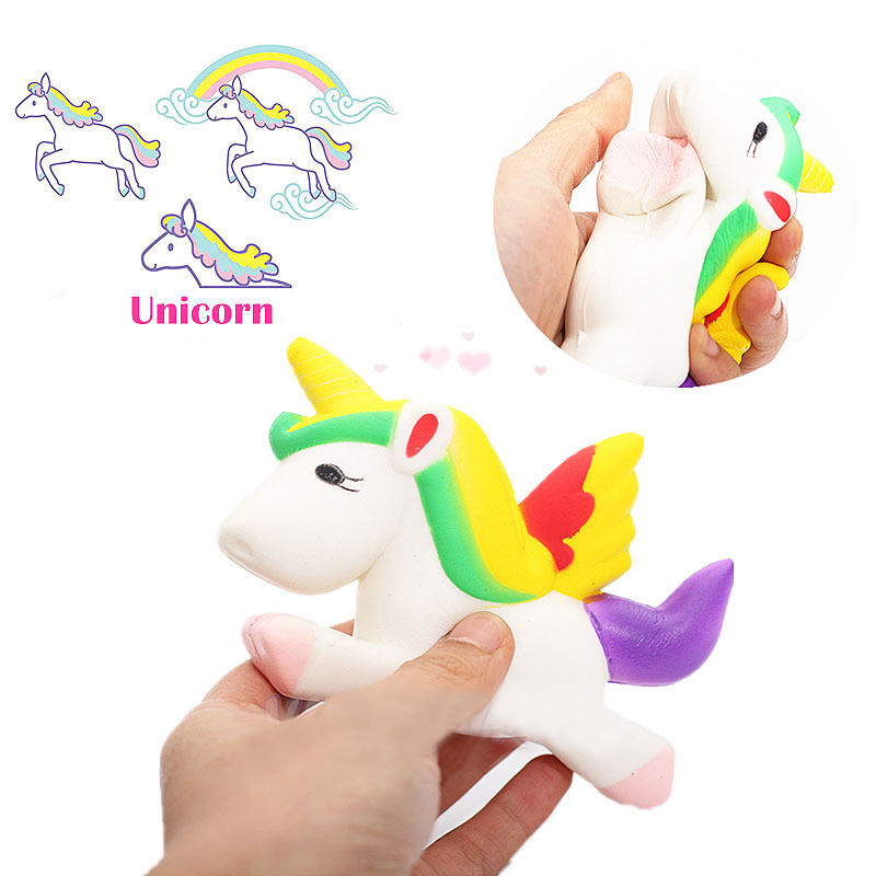 Squishy Dog Toys : Kawaii Unicorn Squishy Slow Rising Cartoon Doll 12cm Press Animal Collection TOY eBay