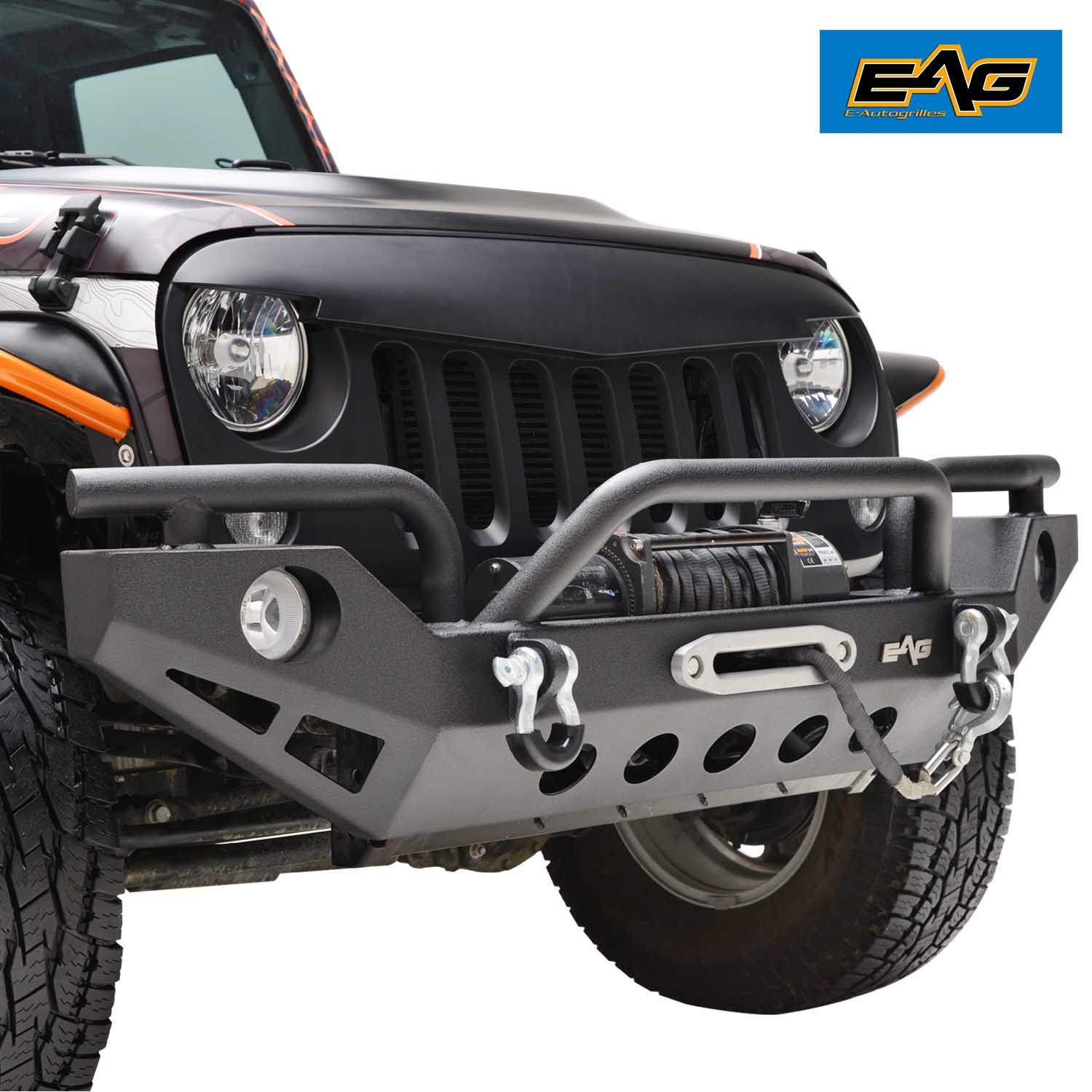 07 17 Jeep Jk Wrangler Rock Crawler Front Bumper With Oe