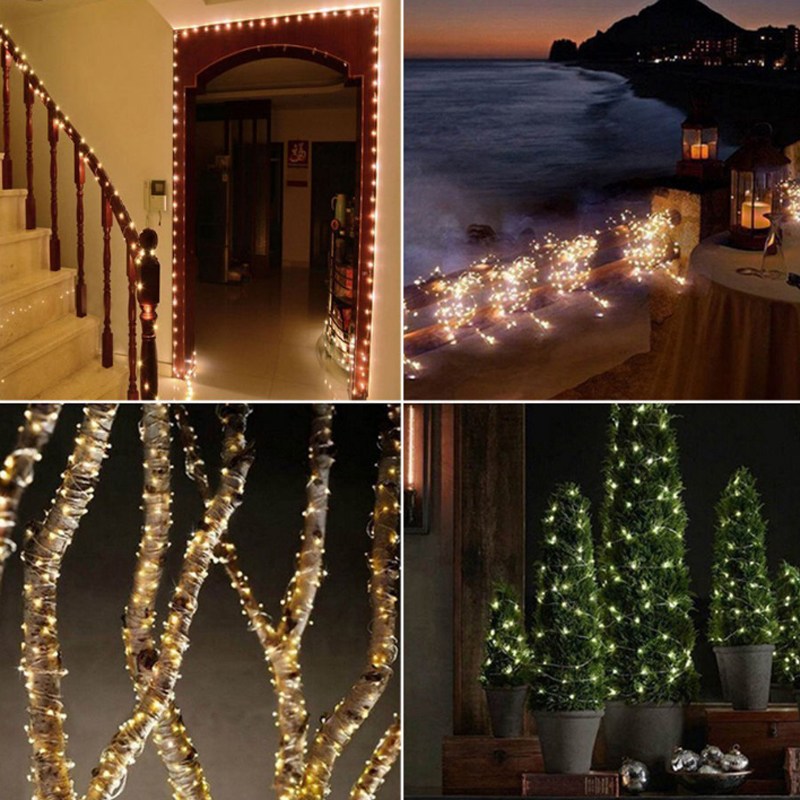 Solar Curtain String Lights : 200 LED Solar Powered Fairy String Curtain Light Lamp Outdoor Garden Party 20M eBay