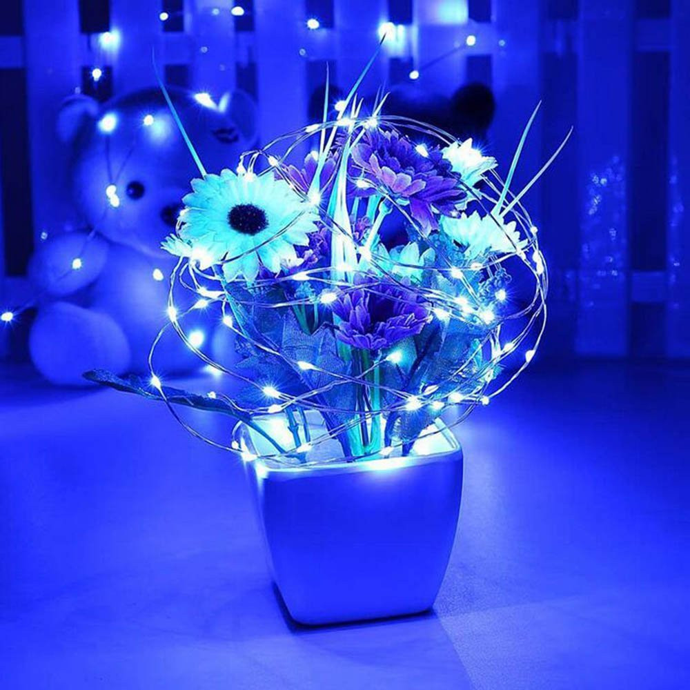 5M 50LED Battery Operated Mini LED Copper Wire String Fairy Lights Xmas Party