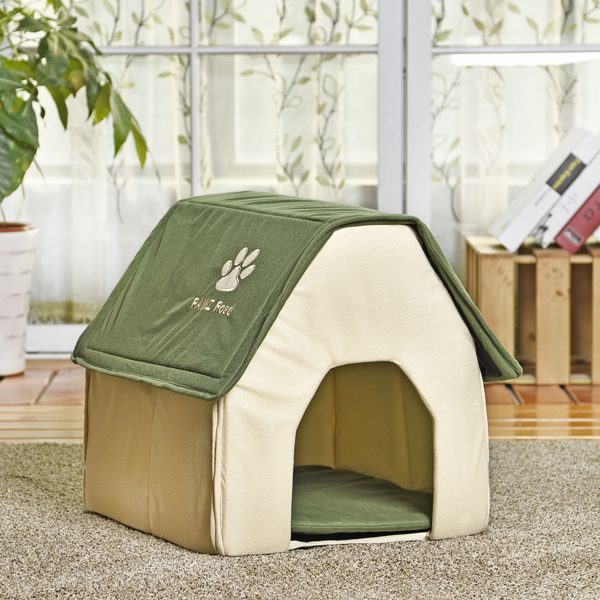 portable travel dog house folding pet kennel soft cat. Black Bedroom Furniture Sets. Home Design Ideas