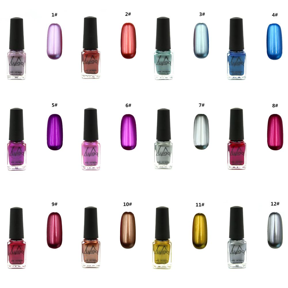 6ml spiegel effekt nagellack mirror nail polish gl nzend chrom nail art polish ebay. Black Bedroom Furniture Sets. Home Design Ideas