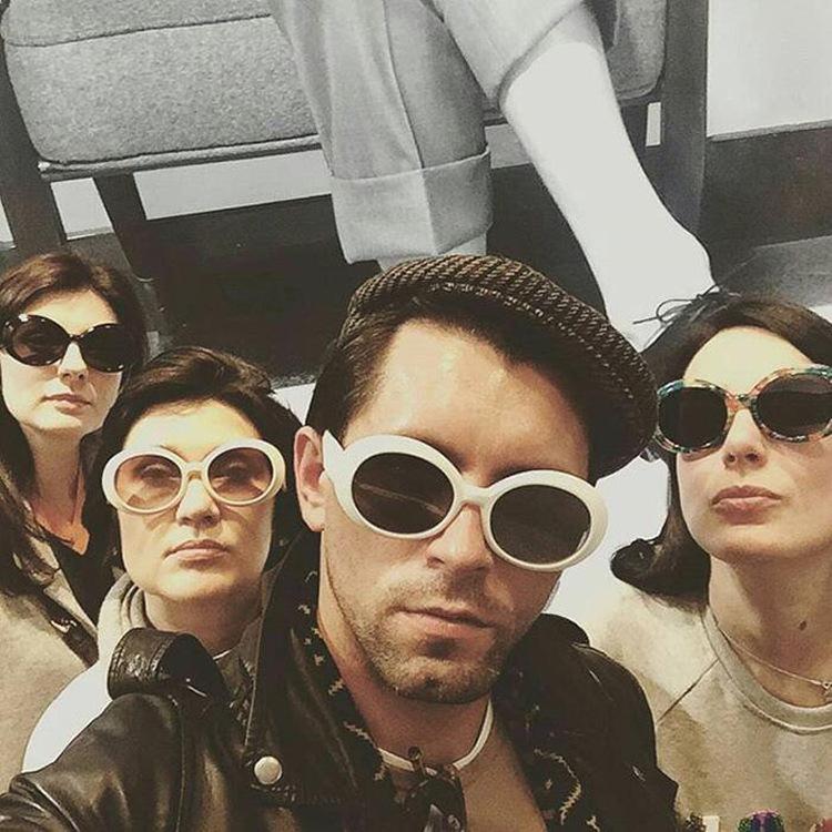 383fe591df47 NIRVANA Kurt Cobain Oval Sunglasses Men Women Neff Glasses Wiz Khalifa  Style. Buyer show