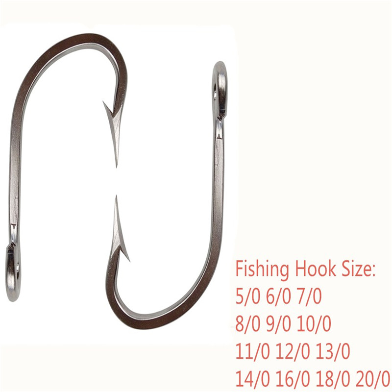 7731 stainless steel fishing hooks big game thick tuna for Fishing hook game