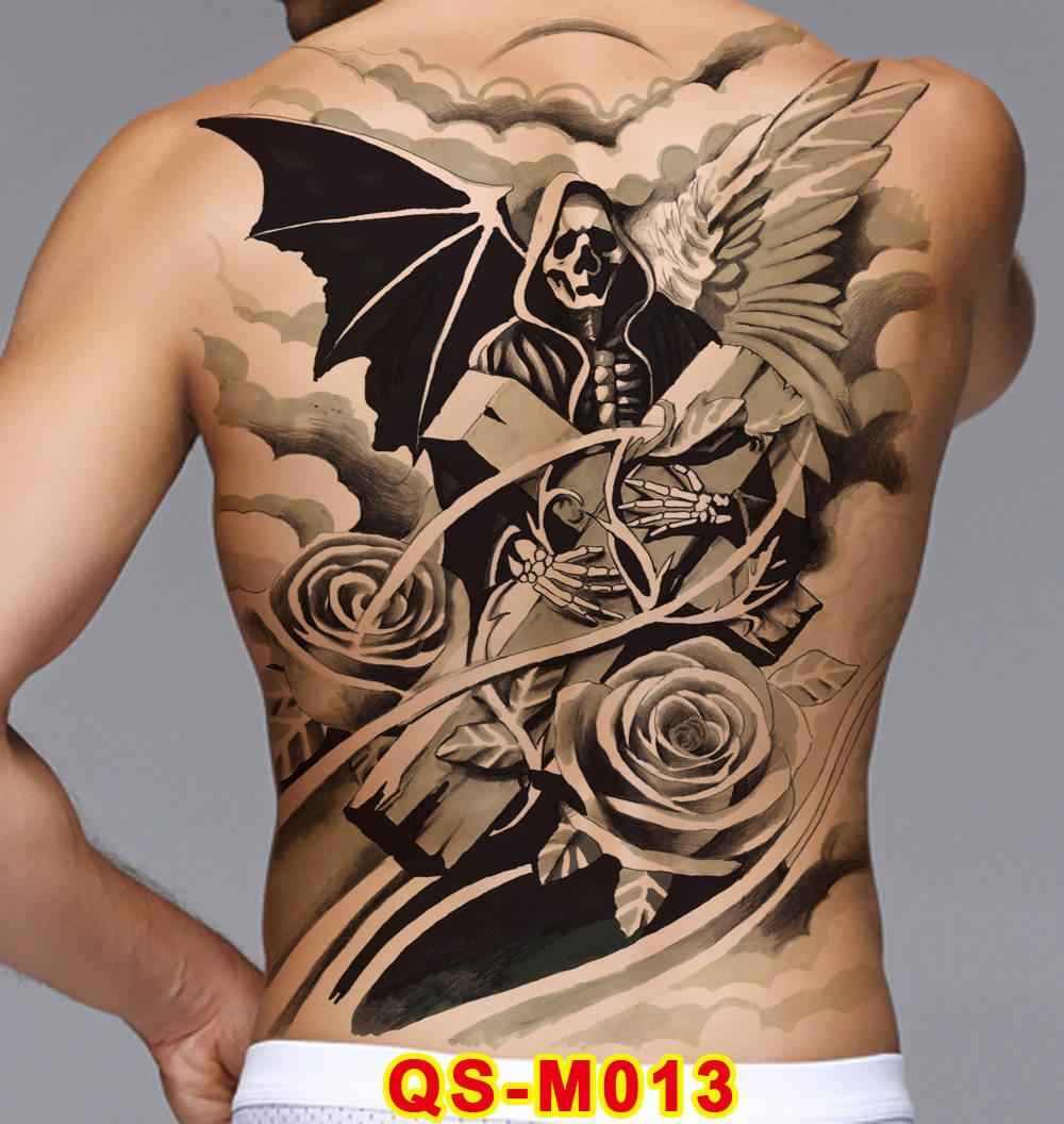 Big Large Temporary Tattoo Sticker Full Back Dragon Tiger