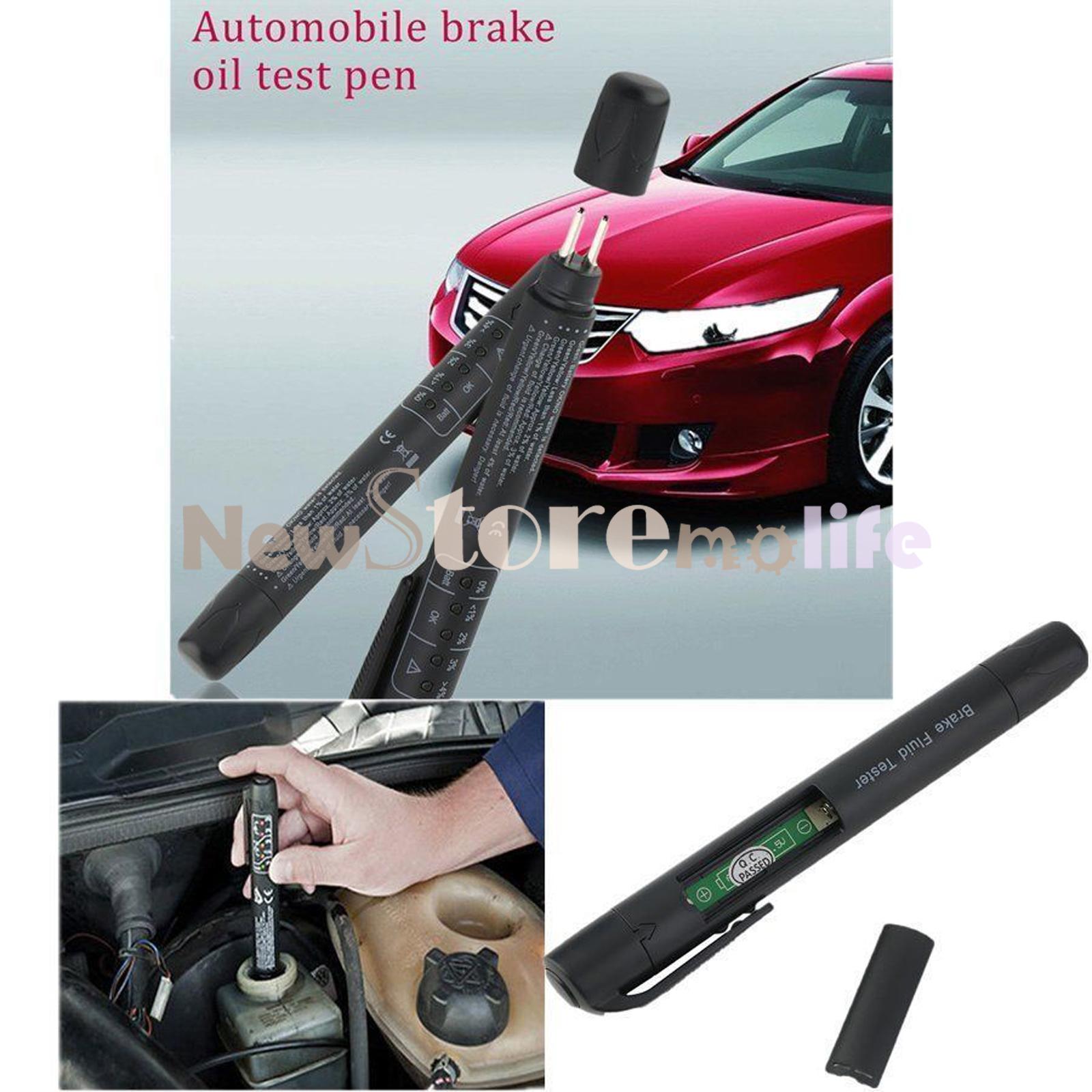 Car Brake Test : Car vehicle brake fluid tester dot led indicator
