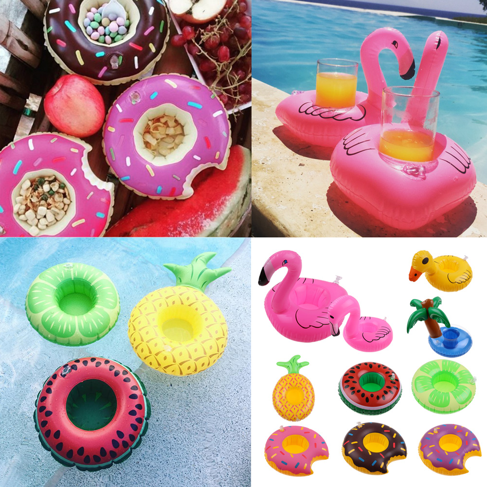 Bath Beach Inflatable Floating Drink Can Cup Beer Holder Swimming