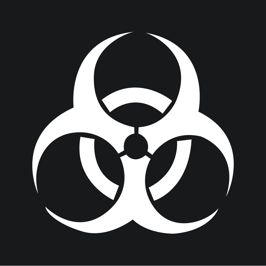 Funny Biohazard Symbol Car Sticker Decal Vinyl For Jdm Illest Drift