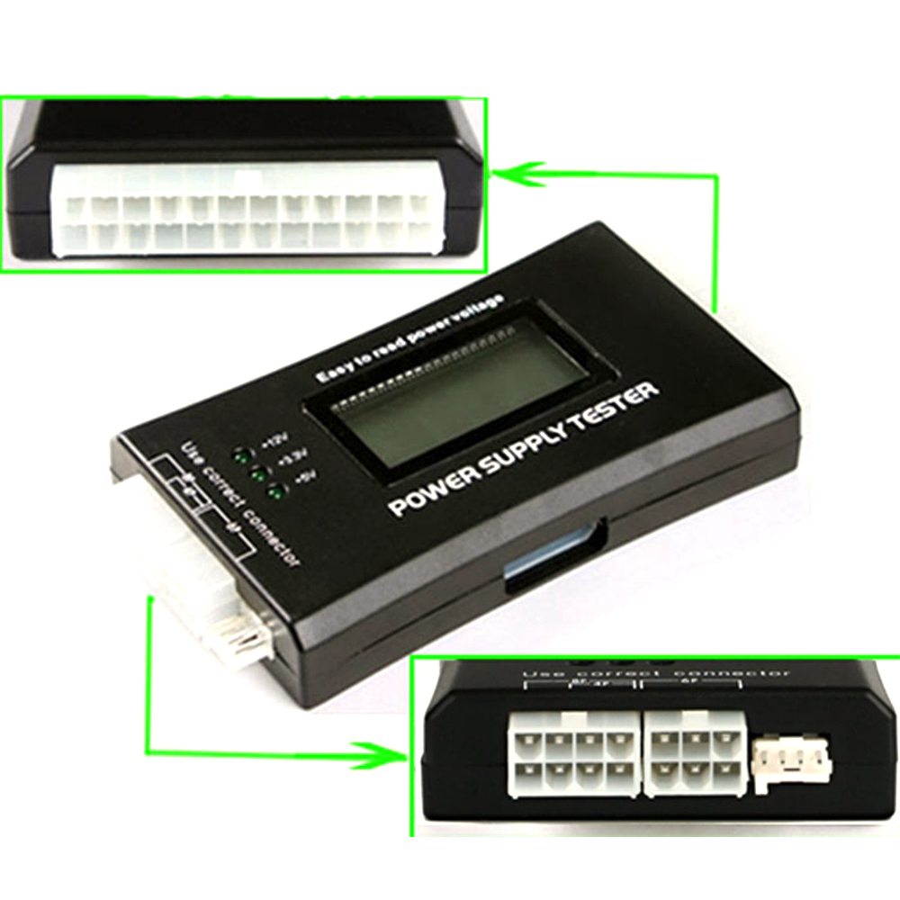 Power Supply Tester : Lcd computer pc power supply tester pin for sata ide