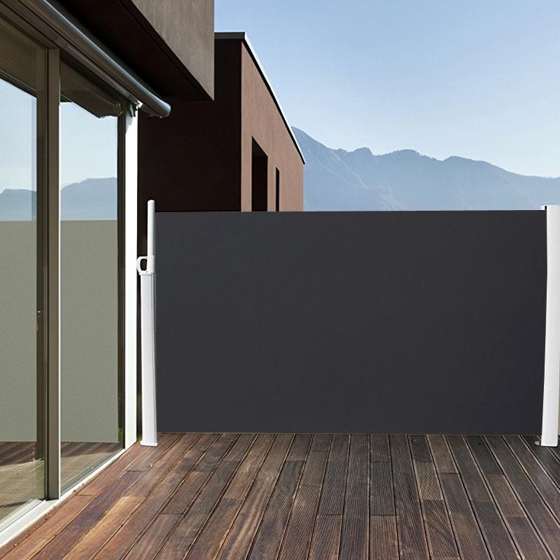 seitenmarkise windschutz sichtschutz sonnenschutz terrasse markise 1 8x3m alu ebay. Black Bedroom Furniture Sets. Home Design Ideas