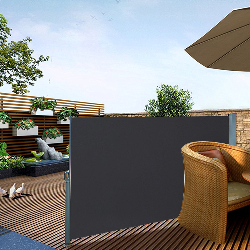seitenmarkise windschutz sichtschutz sonnenschutz terrasse markise 1 8x3m alu ebay. Black Bedroom Furniture Sets. Home Design Ideas