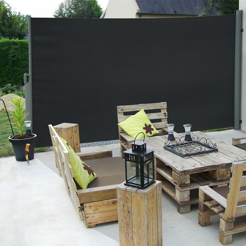seitenmarkise windschutz sichtschutz sonnenschutz terrasse markise 1 6x3m alu ebay. Black Bedroom Furniture Sets. Home Design Ideas