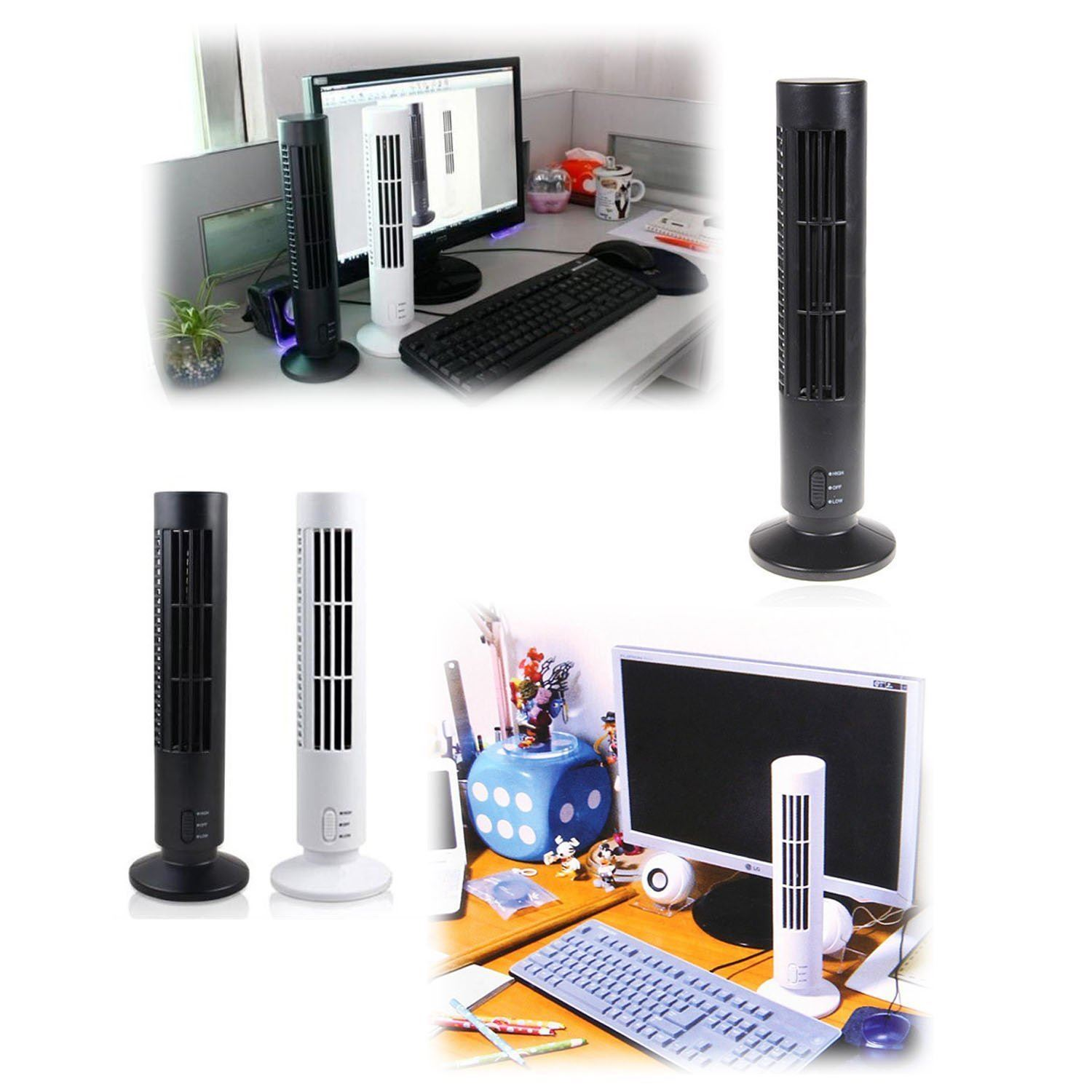 black oscillating air cooling tower fan 100cm silent