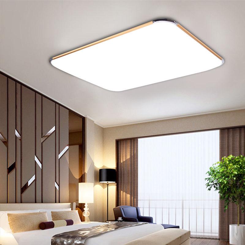 ultraslim led deckenleuchte panel lampe dimmbar wohnzimmer flurleuchte k che ebay. Black Bedroom Furniture Sets. Home Design Ideas
