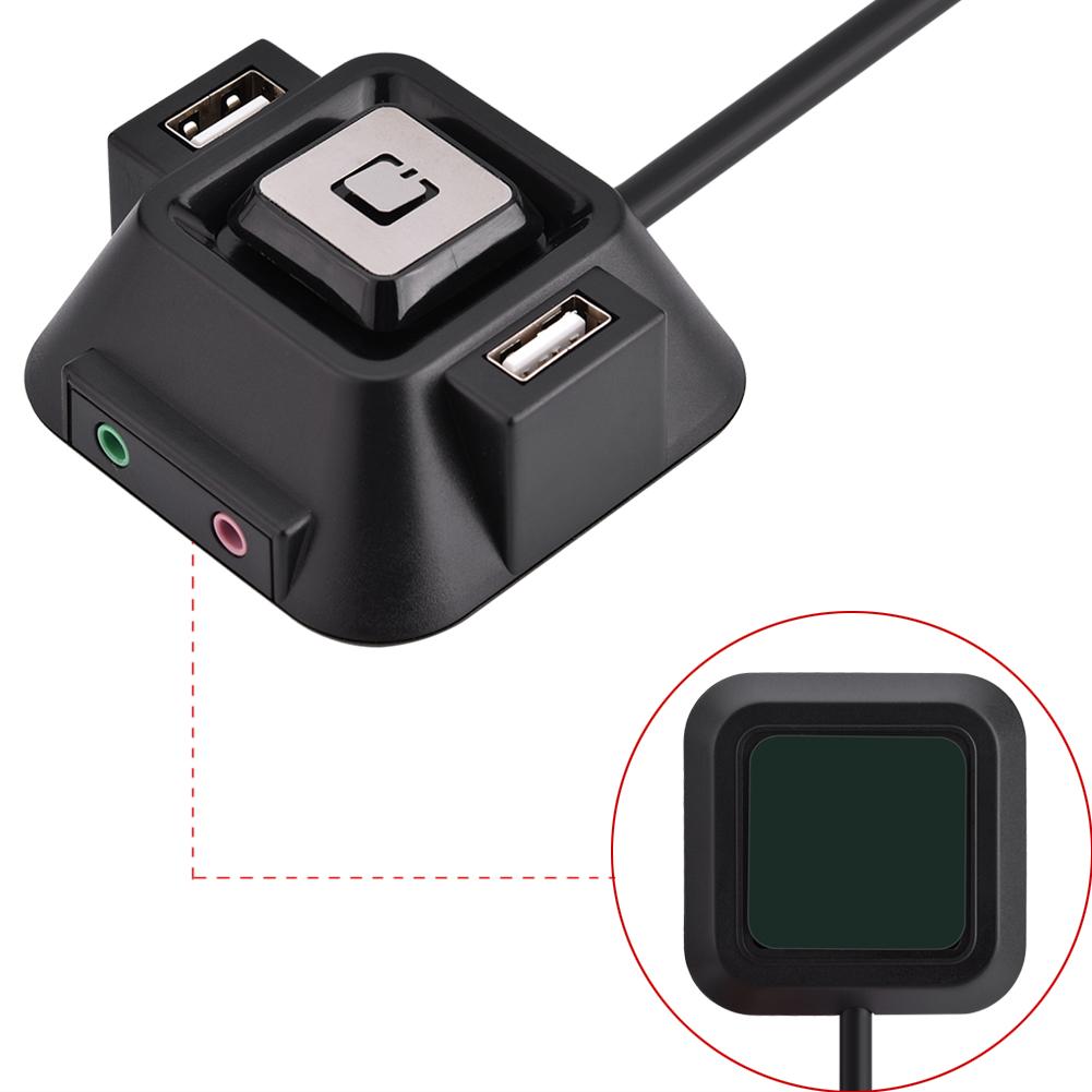 pc desktop geh use schalter taste power reset dual usb audio mikrofon kabel fs ebay. Black Bedroom Furniture Sets. Home Design Ideas