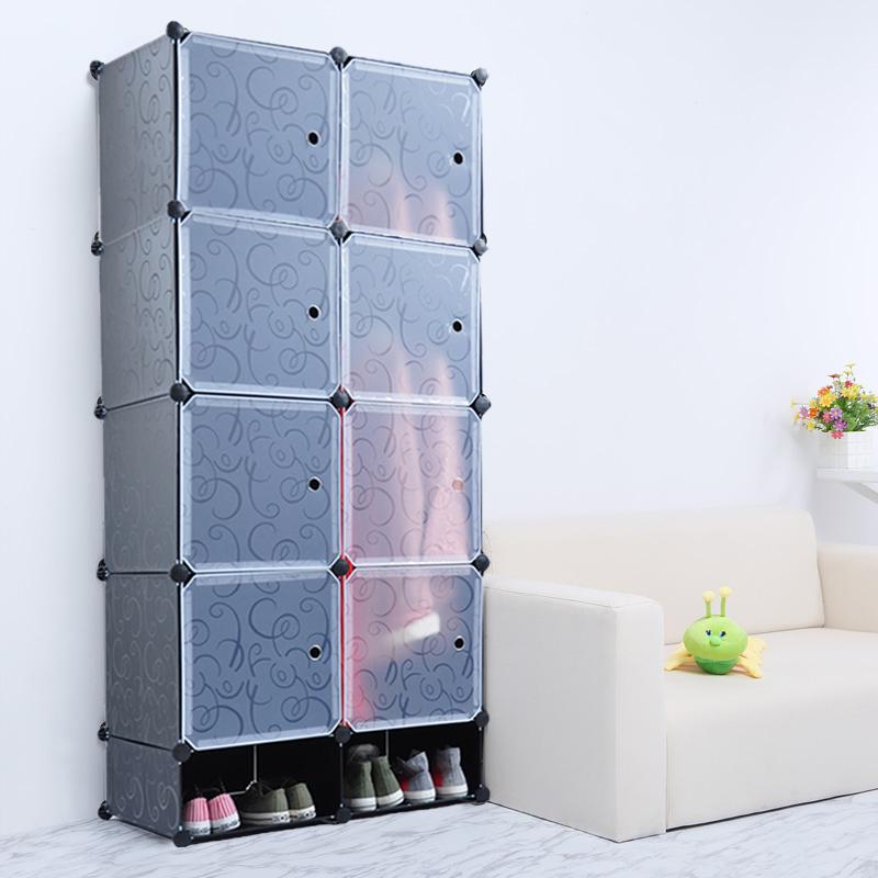 regalsystem garderobe schuhschrank schuhregal kleiderschrank steckregal schwarz ebay. Black Bedroom Furniture Sets. Home Design Ideas