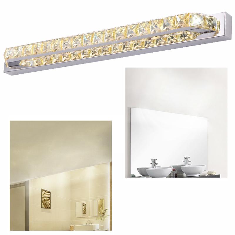 led kristall wandleuchte spiegelleuchte bilderlampe badezimmer spiegellampe 18w ebay. Black Bedroom Furniture Sets. Home Design Ideas