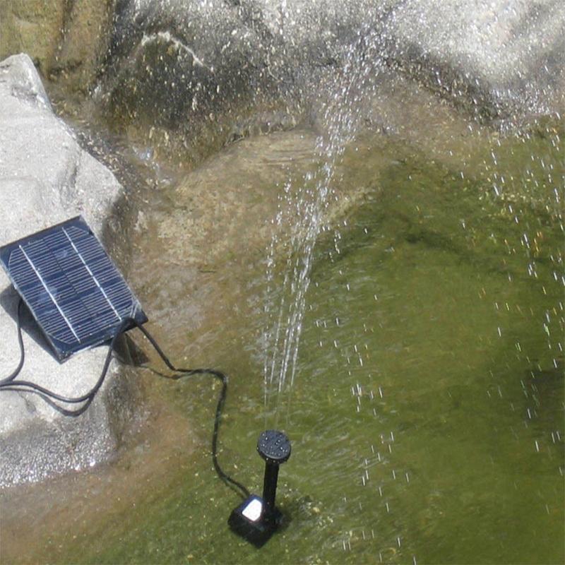 Solar panel powered submersible floating fountain garden for Gartenpool pumpe