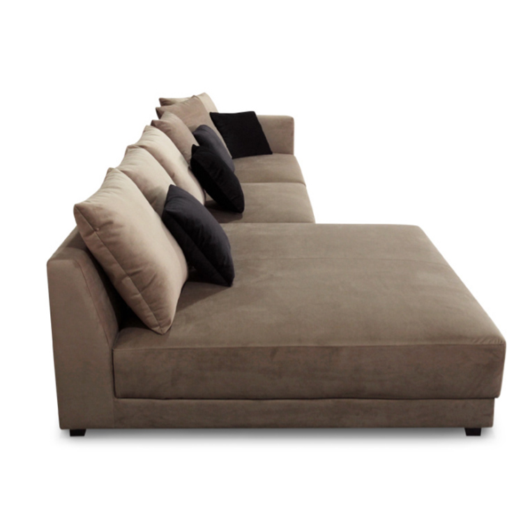 Modern velvet fabric right chaise lounge sectional sofa for Amazon sectional sofa with chaise