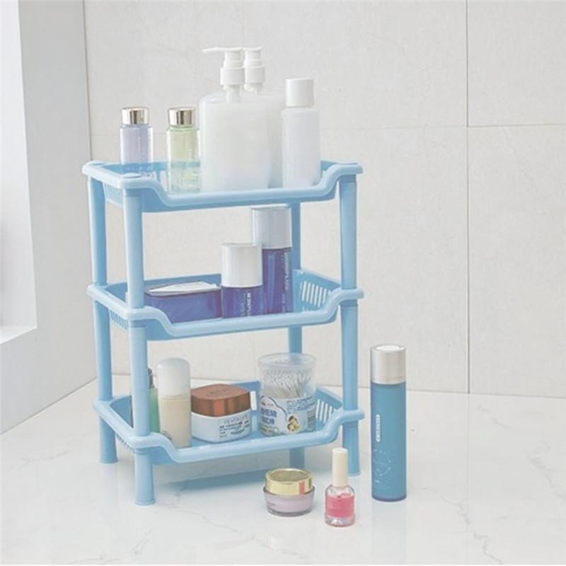 Home Kitchen Storage Rack Bathroom Storage Holder Plastic Square ...