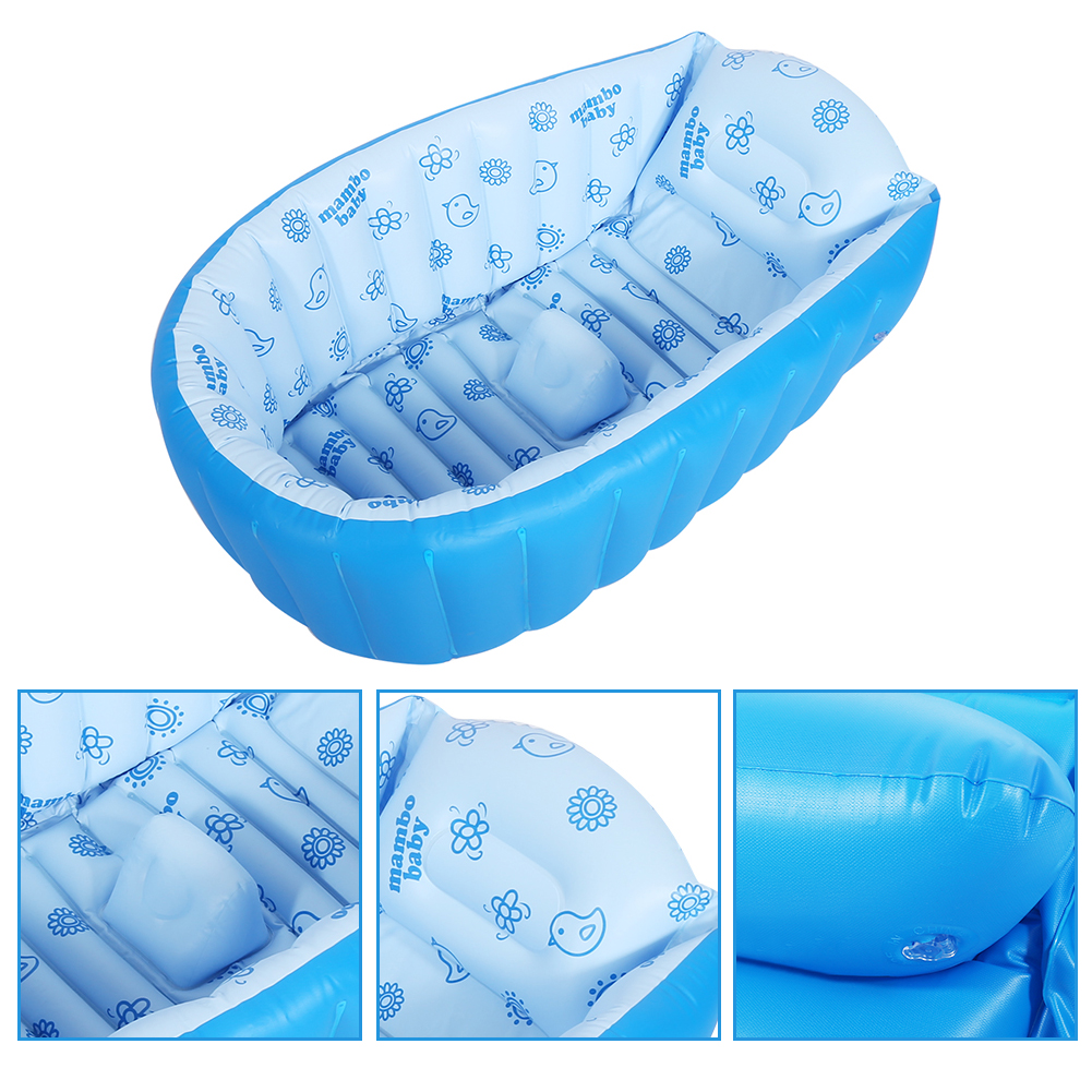 inflatable baby bath kids bathtub shower child newborn swimming pool folding tub ebay. Black Bedroom Furniture Sets. Home Design Ideas