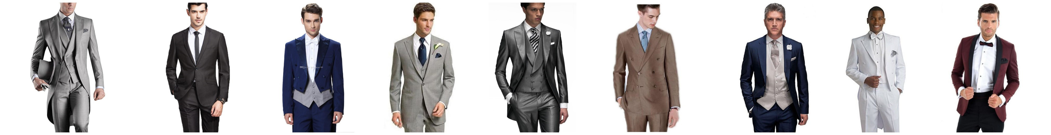 Fashion Man Woolen Suit Groom Best Man Wedding Dress Business ...