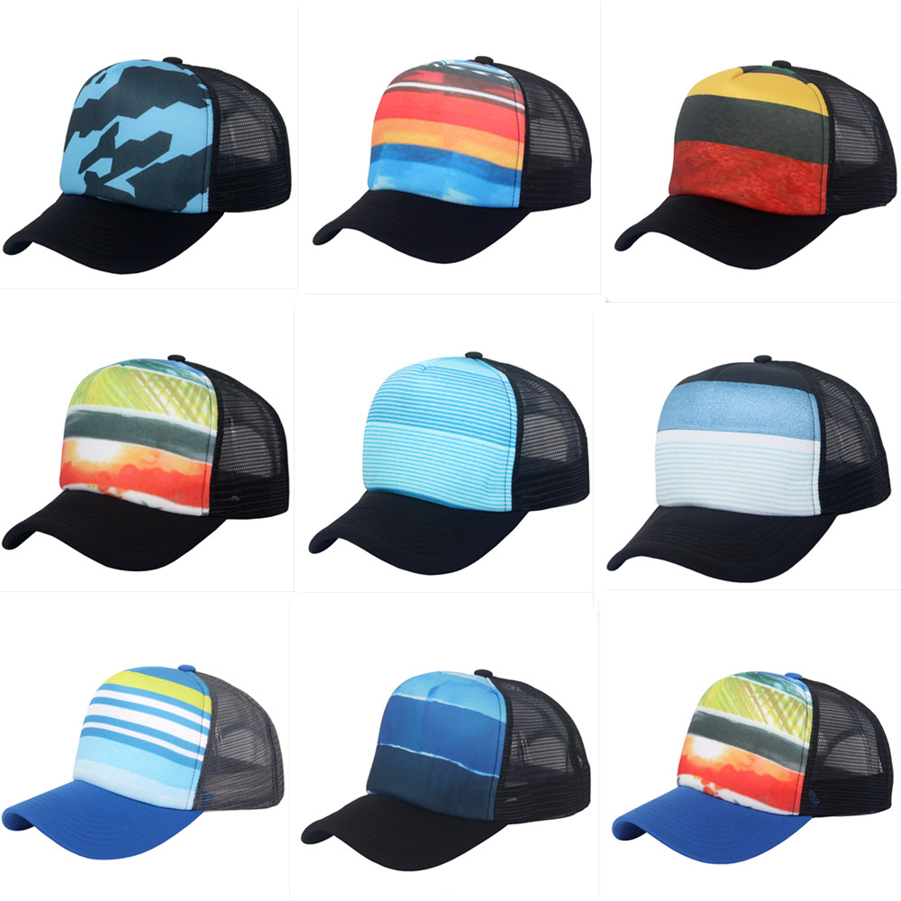 43bd61e0e Details about Sublimation Trucker Mesh Hat Blank 5 Panel Snapback Sports  Hat Summer Unisex