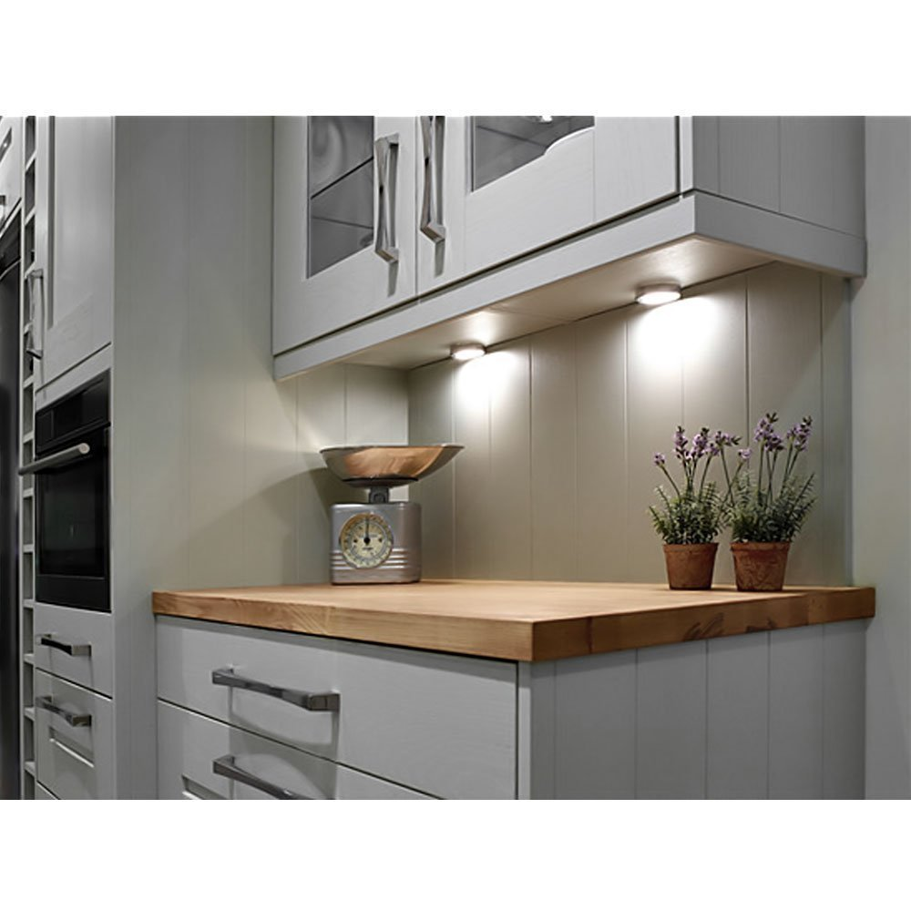 Kitchen Cabinet Light: 3W LED Cabinet Light Under Cupboard Fitting Lighting Power