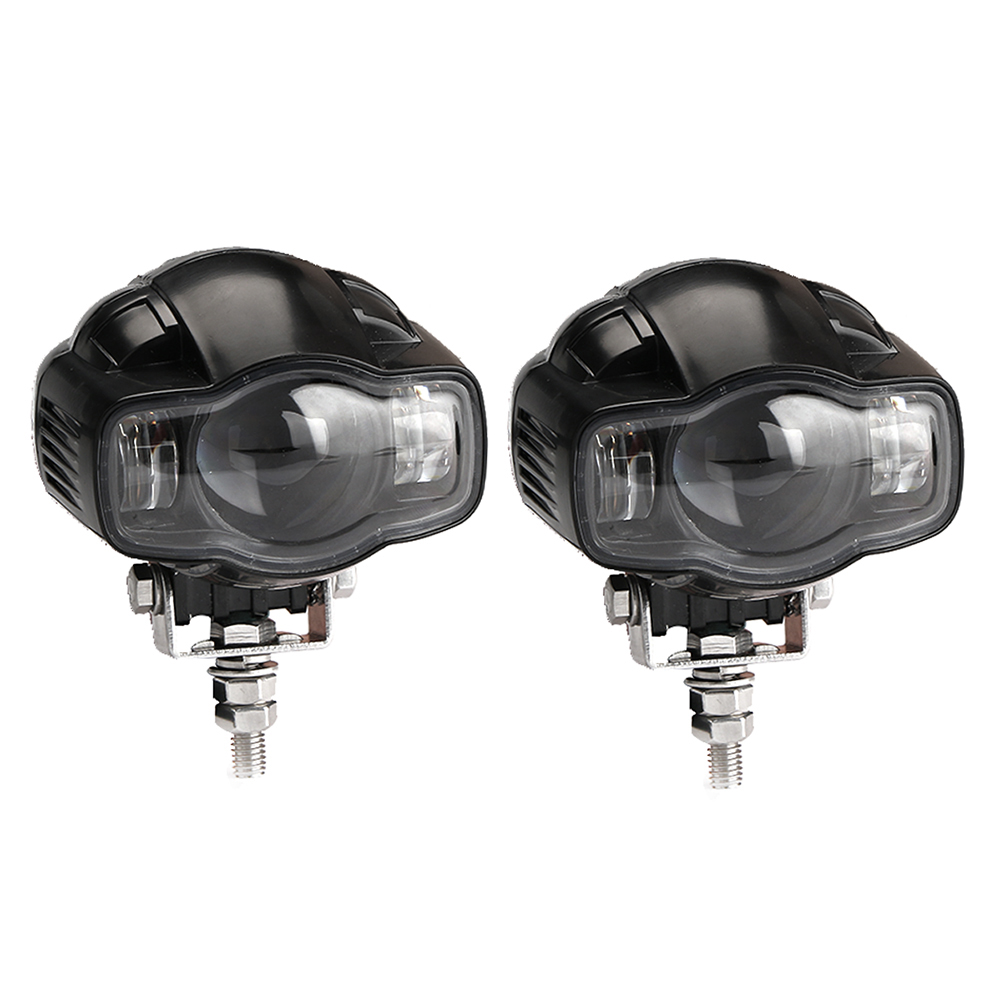 2x Motorcycle Auxiliary Light Led Spot Driving Fog Lamp