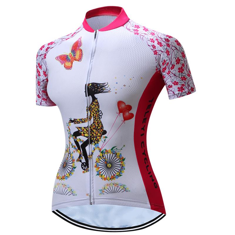 806f48fff Cycling Jersey Teleyi Women short Sleeve bike Jersey Shirt Bicycle clothing  Tops