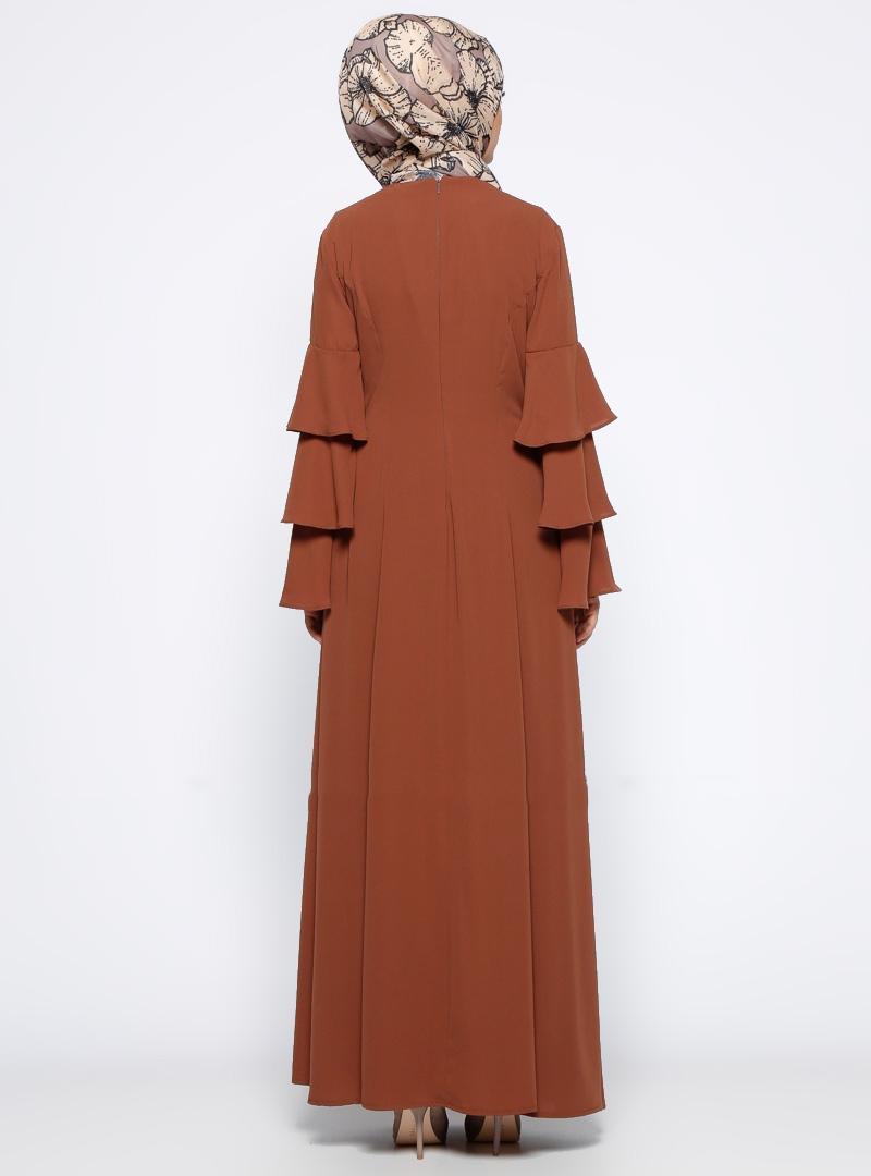 Dubai Women Long Sleeve Abaya Muslim Kaftan Islamic Cocktail Maxi Dresses Arab
